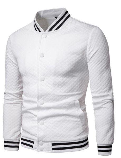 (Wholesale / retail) 2019 Cardigan Fashion Small Diamond Plaid Baseball Men's Stand Collar Cardigan Sweater