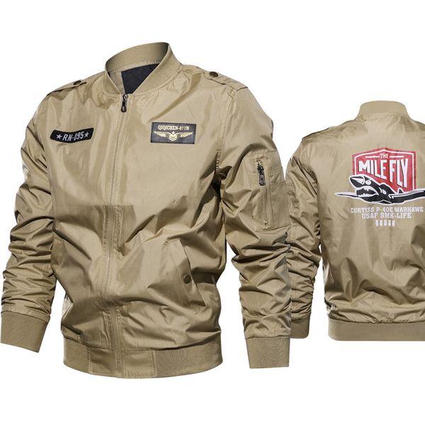 Top Sale Pilot Mens Jacket and Coats 6XL Cool Biker Mens Embroidery Coats Streetwear Spring Bomber Jacket Windbreaker Male A636