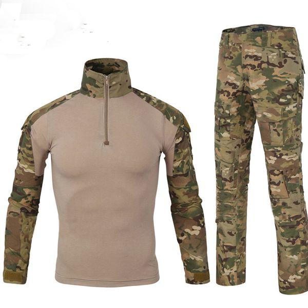 tuta mimetica tuta mimetica tuta mimetica uomini all'aperto gioco caccia abbigliamento US Army Combat Shirt + Pants