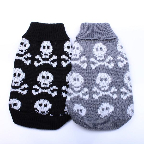 New Dog Pet sweater Jumper Skulls design Cat Puppy Coat Jacket Warm Clothes apparel 5 size