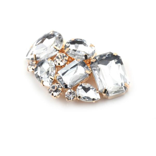 Lovely 1pcs crystal rhinestone charm metal bridal wedding high-heel shoes clips