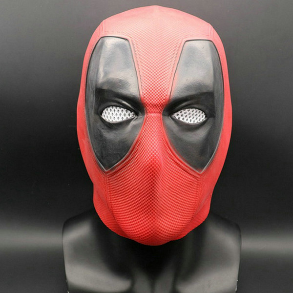Superhero Film Latex Masque Deadpool 2 Marvel Deadpool Masques Visage Complet Halloween Masque Latex Adulte Scary Party Masques Cosplay Jouet Accessoires Props 1 PCS