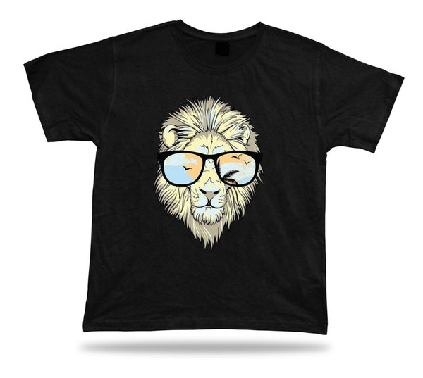 3a7de092b Lion Geek guide funny design awesome Tshirt Style Round Style tshirt Tees  Custom Jersey t shirt