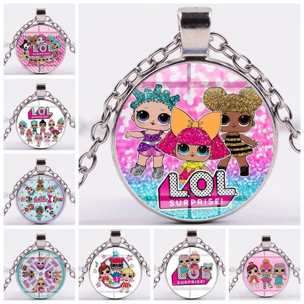 Muñeca de dibujos animados Lindo regalo de niña Kawaii Collar llavero marcador gemelos arete pulsera zx002