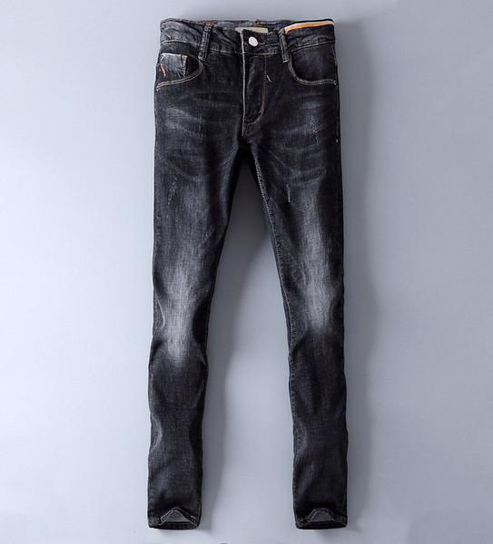Designer de moda personalizado de alta qualidade jeans clássico marca de moda lazer venda algodão confortável cowboy selvagem calça