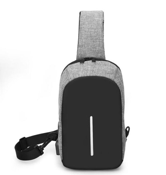 New Cross Body Shoulder Bag Small Cell Phone Canvas Strap Sling Men Messenger Bags Leather Chest Pack Mens Chest Bags