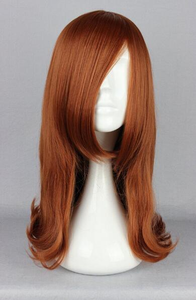 FREE SHIPPIN + + Otaku toy Equipment brown anime girl cosplay long hair handmade wigs