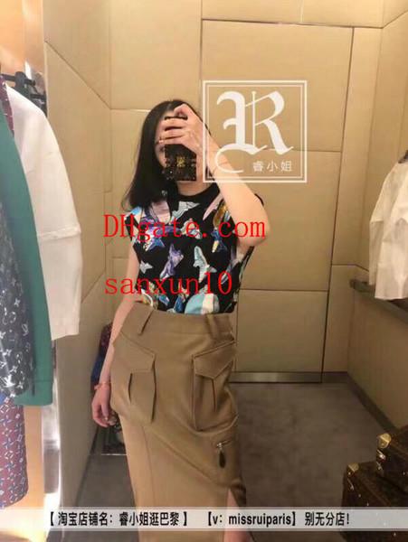 2019 nuove donne di modo vestiti gonne di marca gonna delle donne pacchetto sexy hip dress di alta qualità sunmmer abiti casual signore jupe LL-V-01