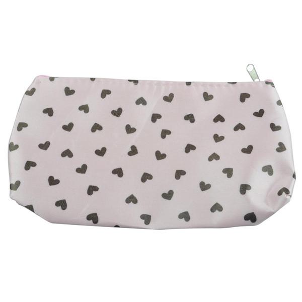 Al por mayor- Sweet Heart cosmetics Bag Bolsa de maquillaje Bolsa de estuche rígido - Rosa