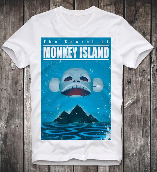 T SHIRT COMMODORE C64 SECRET OF MONKEY ISLAND AMIGA GAMER GAMING VINTAGE RETRO funny 100% Cotton t shirt