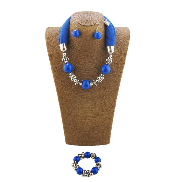 Set style beads necklace ladies scarf scarf bracelet jewelry eardrop pendant free shipping