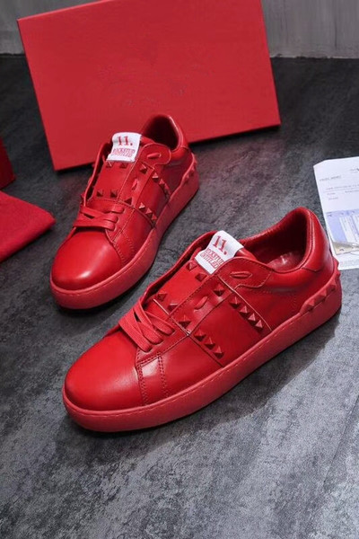 2019 Mens Sneakers Visualizza Classic Plate-forme Casual Shoes inferiore Designer Scarpe Donna Maschio des chaussures yl18060904
