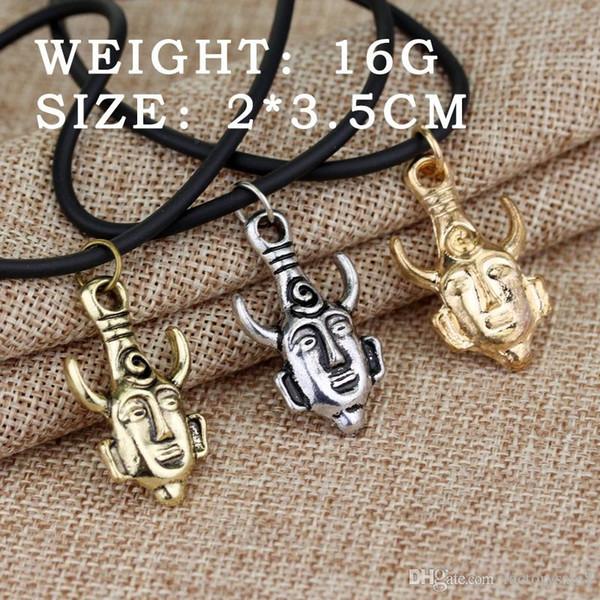 Gli accessori di film di stile caldo pirati, pendente della collana del cranio degli uomini della collana della moneta di oro della collana diabolica, trasporto libero.