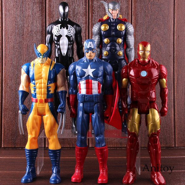 Marvel İnanılmaz Ultimate Spiderman Kaptan Amerika Iron Man PVC Action Figure Koleksiyon Model Oyuncak Marvel Avengers Şekil SH190915
