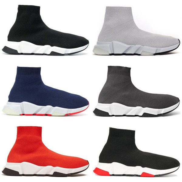 best selling Designer Sock Shoe Luxury Speed Trainers Runner Casual Sneakers Speed Trainer Fashion triple Black Oreo Men Women platform shoes