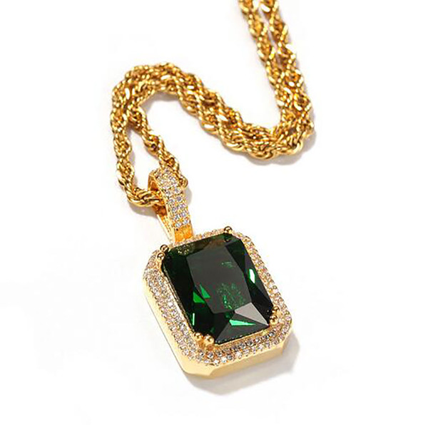 Gold Green+Rope Chain