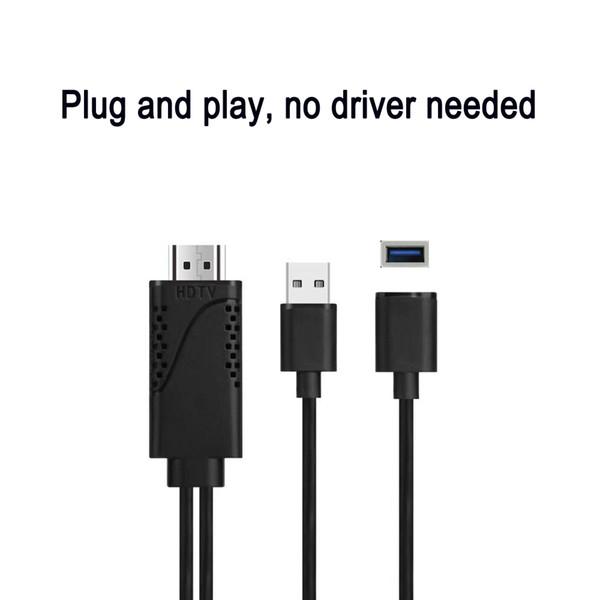Кабель-переходник USB-HDMI, цифровой AV-адаптер iPhone Кабель HDMI 1080P HDTV для iPhone XS Max / XS / XR