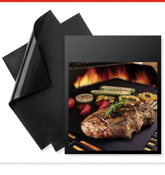 Reusable Non-stick BBQ Grill Mat 0.2mm Thick PTFE Barbecue Grill Mats Cooking And Baking And Microwave Oven Grill Sheet