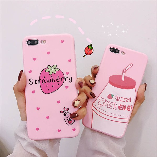 Designer Mobile Phone Cases For iPhone XS TPU Cartoon Solid Color Back Cover Silica Gel Frosted