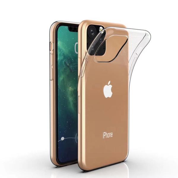Ультра-тонкий прозрачный ТПУ телефон случае для iphone 11 про максимум 6 7 8Plus X XS макс XR задняя крышка Ударопрочный Мягкий кремнеземные четкие случаи защиты
