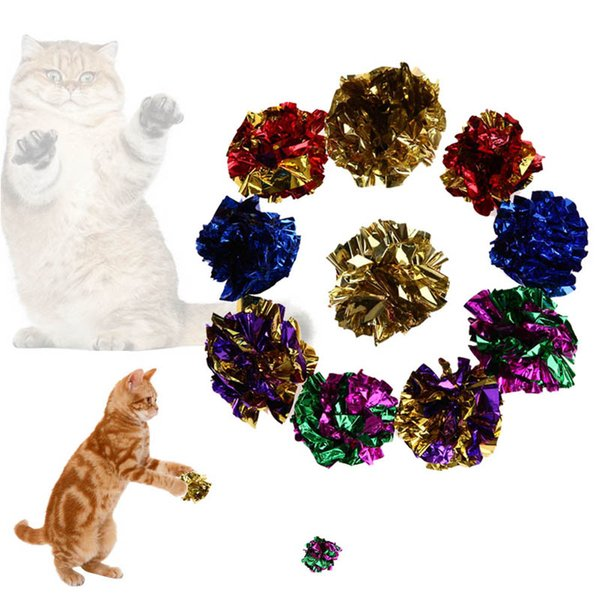 multicolor cat toy paper ball cat toy sound interactive product pet supplies ball 5 / 10pcs