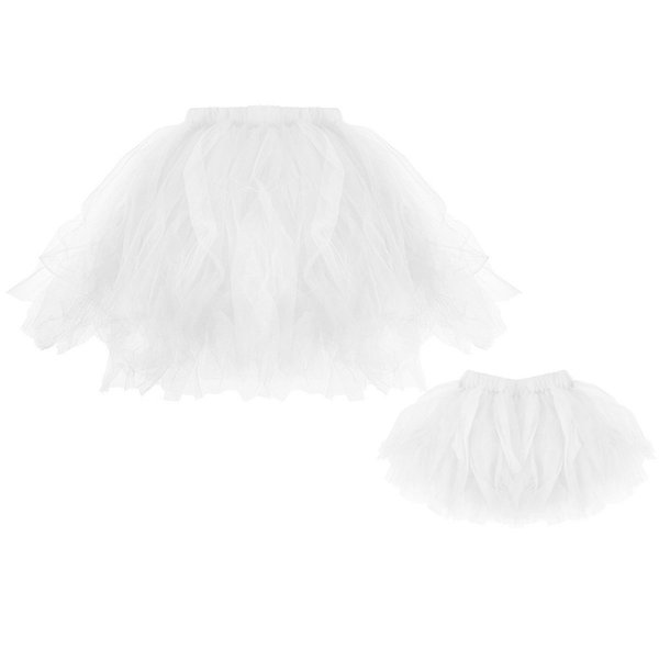 Skirts Mommy & Me High Quality Pleated Tutu Ballet Skirts Fancy Party Skirt jupe femme 2019 New Arrival #25
