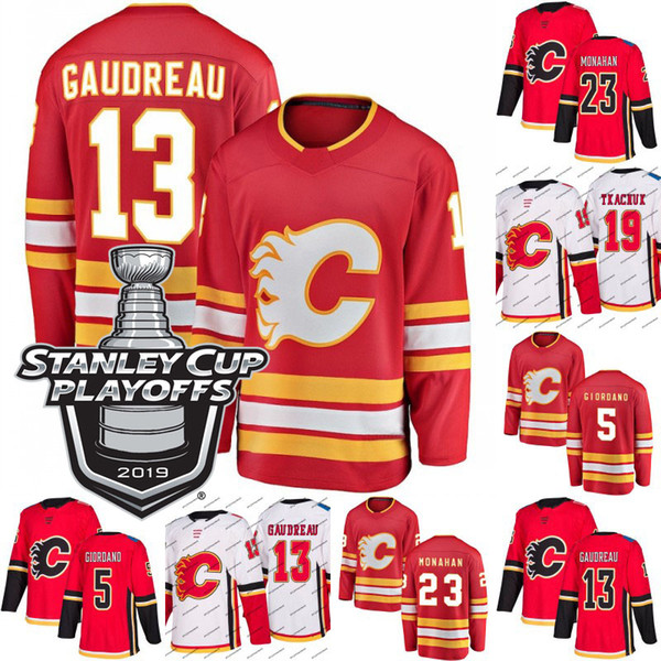 sports shoes b1ef6 a7538 2019 2019 Stanley Cup Playoffs 13 Johnny Gaudreau Calgary Flames Jersey 18  James Neal 19 Matthew Tkachuk 23 Sean Monahan Ice Hockey Jerseys From ...