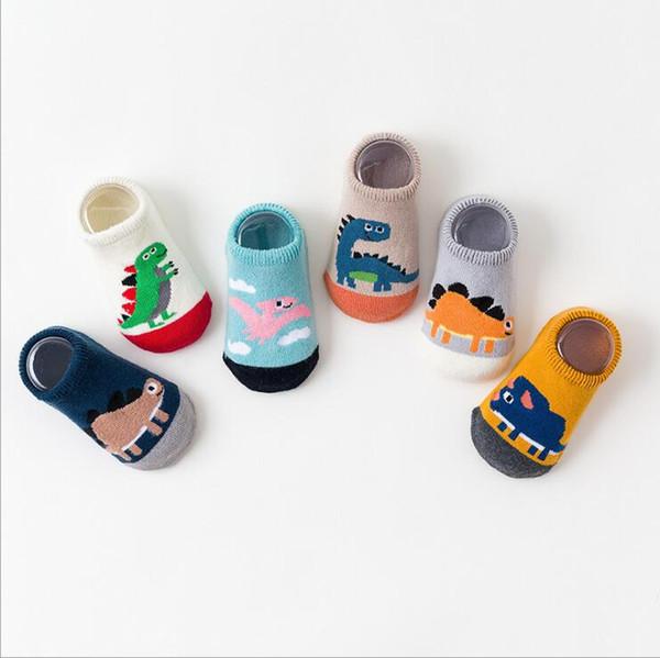 Toddler Kids Baby Girl Boy Anti-Slip Socks Newborn Cartoon Warm Shoes Slipper AB