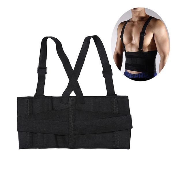 Back Support Brace Shoulder Straps Male Pain Belt Back Corset for Men Heavy Lift Lumbar Support Belt Posture Corrector #134346