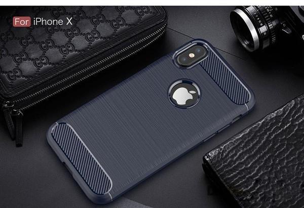 Toptan cep telefonu kılıfı için ince hibrid süper sağlam zırh koruyucu kapak iphoneX / Xr / Xs / Xs Max / Samsung S10 S10e karbon fiber kasa