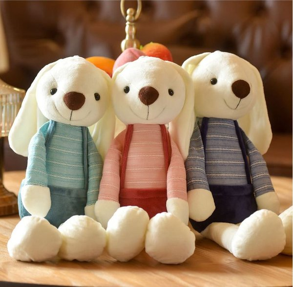 2019 Hot Plush Rabbit Toy Fashion Big Ears Long Ears Rabbit Doll Simple Cute Bunny Warm Sleeping Pillow