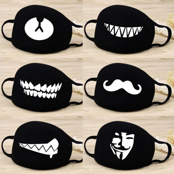 Modello di cartone animato cotone bocca maschera creativo maschera viso all'aperto utilizzare vento filtro antipolvere strumenti caldi QQA271