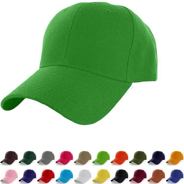 Solid Color Baseball Cap 23 Colors Adjustable Outdoor Sports Hip Hop Plain Baseball Visor Hats OOA6455