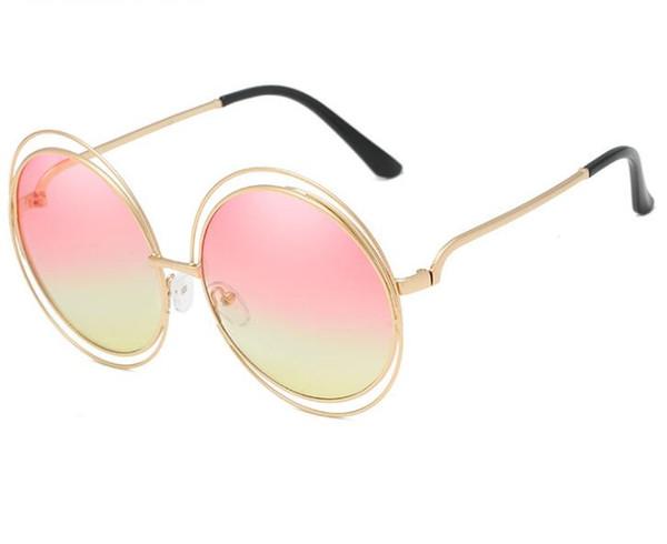 557bf39e8 New fashion women's sunglasses 3018 trend sunglasses round frame metal  sunglasses Europe and America ladies sunglass