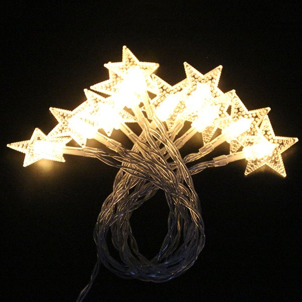top popular LED Lights Decoration LED Star Copper Wires LED Fairy Lights Christmas Wedding Decoration Battery Operate Twinkle Lights DHL 2020