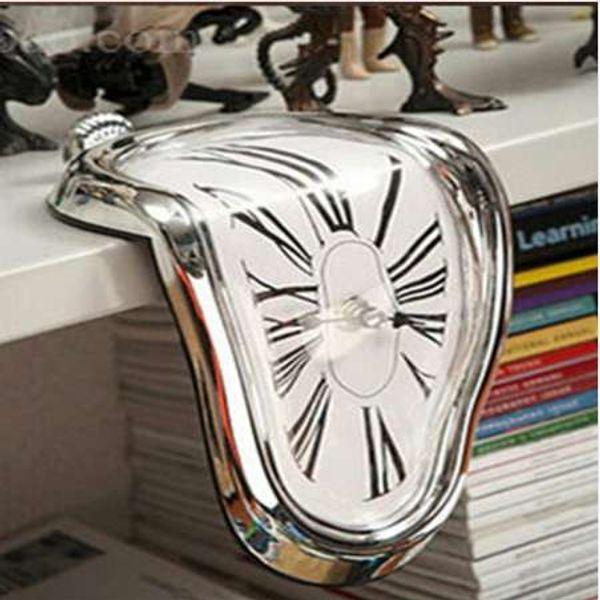 Surreal Melting Distorted Wall Clock Surrealist Salvador Dali Style Wall Clock