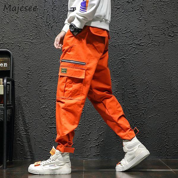 Брюки Мужские осень мода карманы досуг все Матч Harajuku грузов брюки мужчины большой размер корейский уличная одежда хип-хоп Trosuers шик
