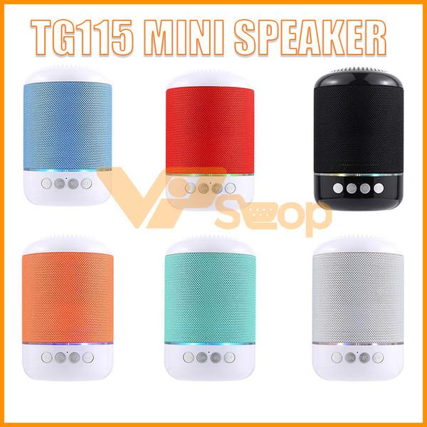 TG115 LED Bluetooth Mini Haut-Parleur Portable Haut Parleur TF USB Lecteur de Musique FM Radio Mic pour iPhone XS 8 Plus Samsung Xiaomi LG
