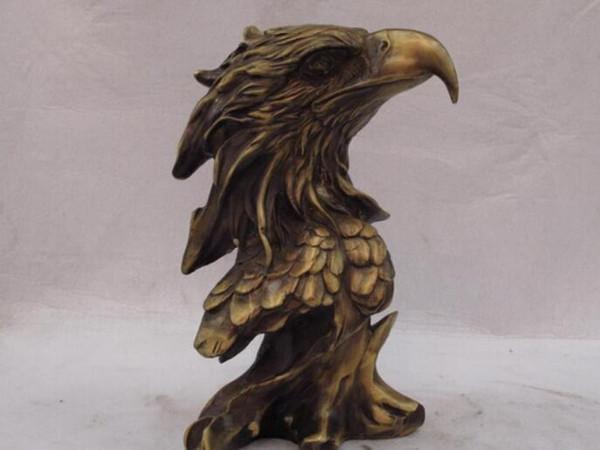 NEW +SCY Collectible bronze lion statue S1039 China classical Bronze Copper Exquisite Decoration Lucky Eagle hawk Head statue B0403