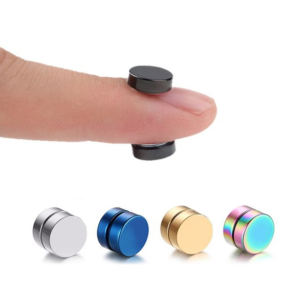 1 Piece Mens Women Strong Magnet Magnetic therapy Health Ear Stud Non Piercing Earrings Fake Earrings Gift Punk Jewelry