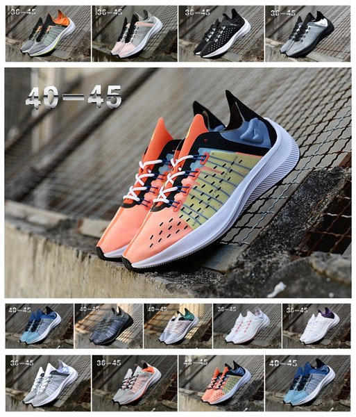 Compre Nike React Element 87 Translucent Exp X14 Wmns Racer Para Mujer Para Hombre Zapatillas Deportivas Negras Naranja Blanca EXP X14 Zapatillas Zoom