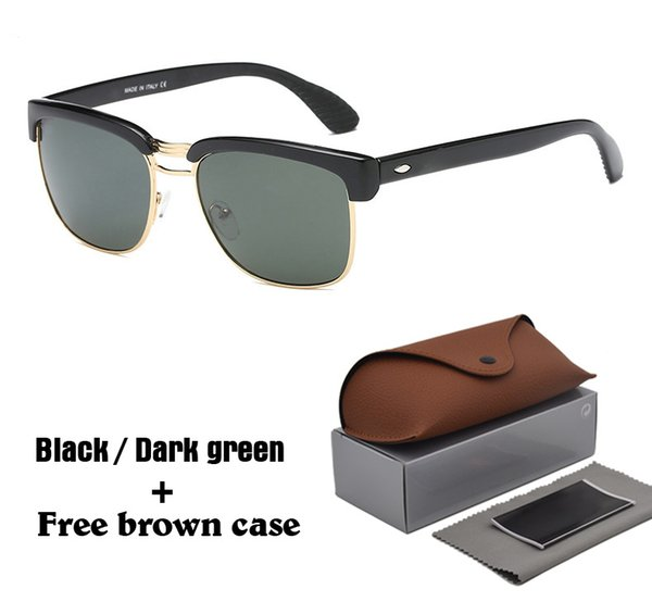 Wholesale-Brand designer Fashion Sunglasses half frame Reflective Sport UV400 Protection lens Vintage Sun glasses with Retail case and box