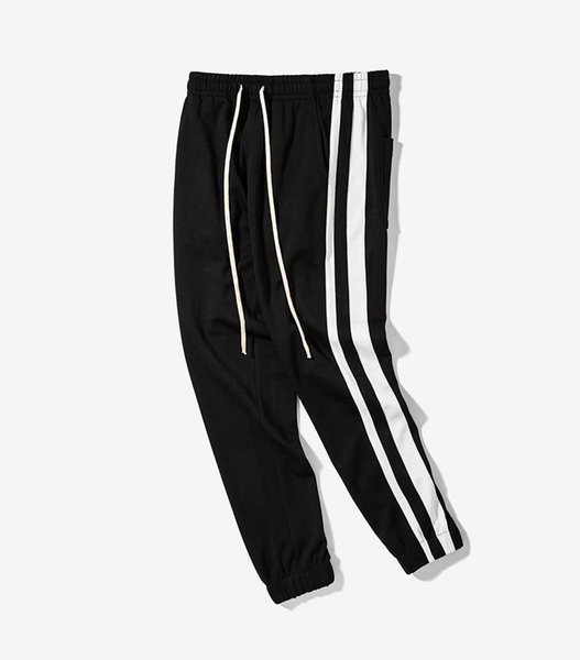 2018 INF Stripe Long Sport Pants Hip Hop Casual Men's & Couple Pants Europe and America Simple Contrast Color Loose comfortable Pants