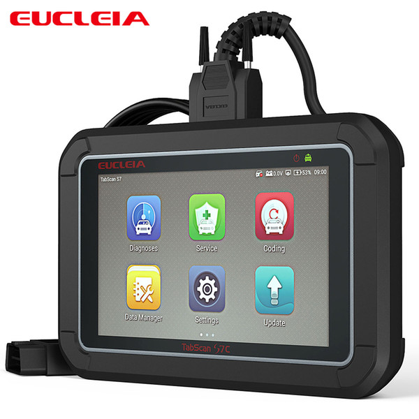 OBD2 Scanner Diagnostic Tool Throttle Reset Oil Service Reset EPB CVT Auto Car Scanner Car Coding Programming Tool EUCLEIA S7C