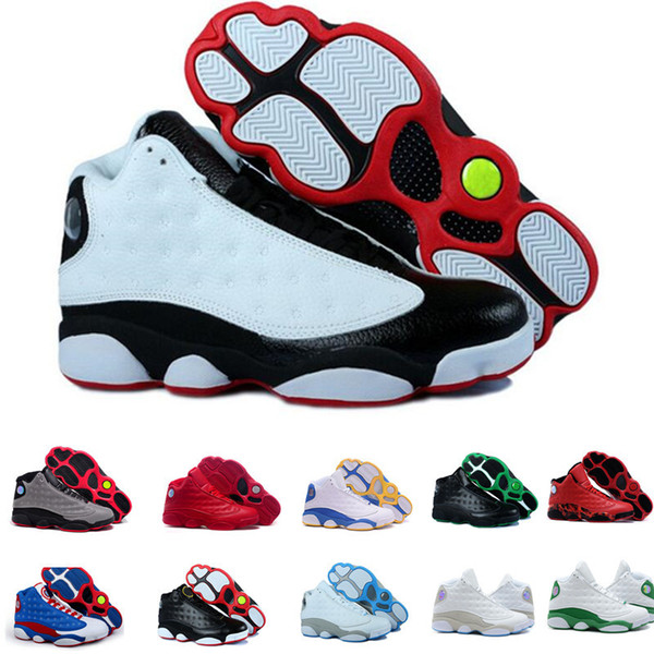 Hot newest 13 Mens Basketball Shoes Cap Gown Phantom Chicago GS Hyper Royal Black Cat Flints Bred Brown Wheat DMP mens sports sneakers