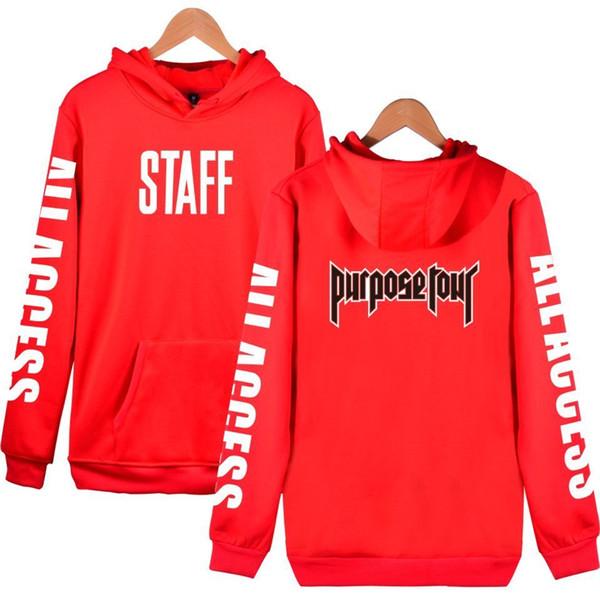 Fashion Justin Bieber Staff New Style Hoodies Men/women Cotton Men Women Clothes Hooded Sweatshirts Unisex Hoodies Clothes Xxxxl