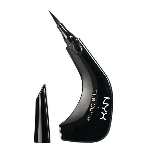 Dropshipping NYX The Curve Liquid Eyeliner Beauty Meets Function High Quality Waterproof Cosmetics Party Queen Eye Makeup Eyeliner 0.4ml