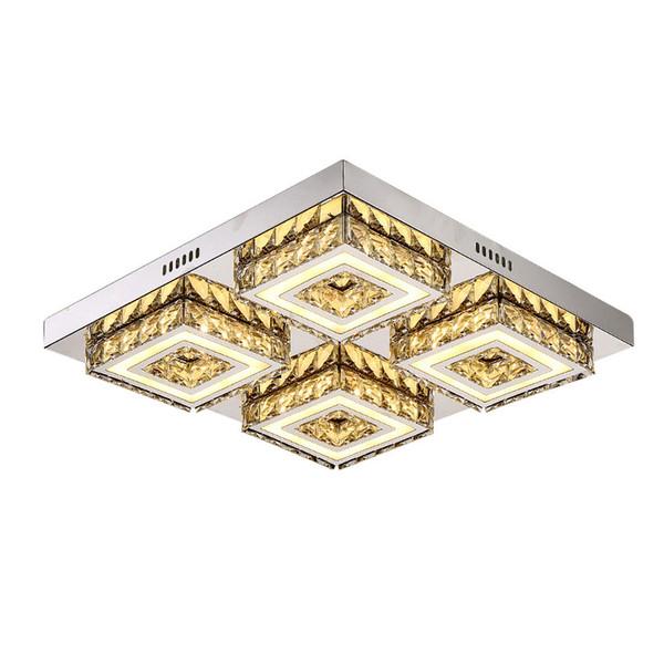 LED Ceiling Lamp Crystal Living Room Foyer Light Home Lights Lustre Fixtures Restaurant Luminarias Luxury Ceiling Light