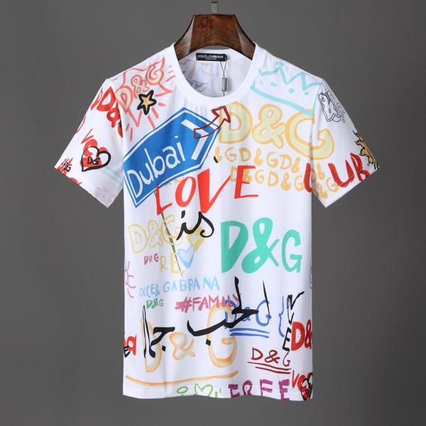 2019 alta calidad italiana diseñador de la marca logo impreso camiseta de los hombres nuevo verano manga corta de algodón diseñador de la marca casual chaqueta de fitness