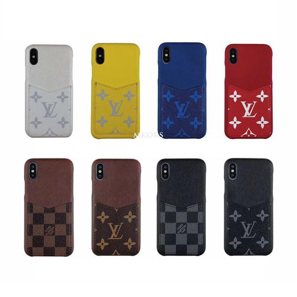 Resmi Tasarımcı Kart Tutucu Cep Telefonu Kılıfı iPhone X XS için Max XR 8 8 artı 7 7 artı 6 6 s Artı Deri Kapak için 7 artı 8 artı 6 artı